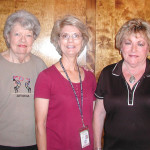 Sun Lakes Garden Club members Terry Meury (left) and Paula Lauer (right) are pictured with Cathy Rymer, City of Chandler, Certified Arborist and Master Gardner and presenter at the May meeting.
