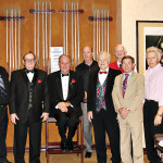 Ten of the 17 players in the Godfather Cup annual Tournament in 9-Ball. Photo by Bruce McCorkle, league member.