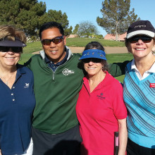 Pictured (left to right) are Lana Jonker, Eddy Renio, Marcia Gaudioso and Holly DeVinck