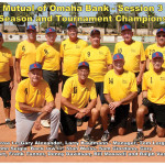 The spring season and tournament champion Mutual of Omaha team. (Photo courtesy of Core Photography, LLC).