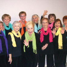 Ambassadors singers from bottom left are Cathy Hanson, Kay Davis, Sheri Hopkins, Vel Boardman and Helen Wright; back row from left are Chris Roen, Nancy Roberts, Patti Entwistle, Sue Elsner and Barbie Bergerson; not pictured are Beverly Borneman, Pat Puchniak, Cindi Decker, Linda Raphael, Kay Tymn and Gina Renner.