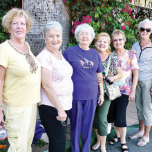 These six Cheers members enjoyed the Palm Springs Follies!