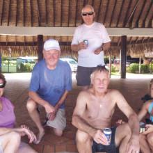 The Stills, the Bogdanoffs and R. Rajamaki chill out on Bora Bora Beach!
