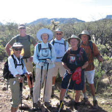 Members of the Sun Lakes Hiking Club enjoy a spring hike!