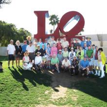 Members of the Sun Lakes Hiking Club enjoyed an urban hike in Scottsdale.