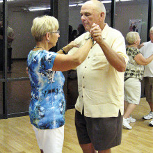 Pat and Bonnie Zilles are seriously practicing their dancing skills!