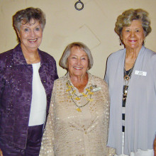 Installation of new officers took place on Thursday, May 29 in the ballroom. Pictured from left to right are Ruth Rinehart, treasurer; Jody Heiman, co-president; Joan Koch, vice president; not pictured are Cora Zuchowski, co-president; and Ruth Pederson, secretary.