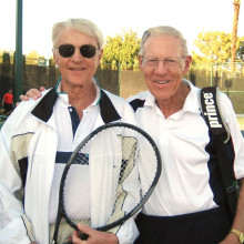 USTA Silver Ball award winners Earl Shalin and Vern Larson