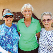 Winners of Fun Day are (left to right) Carolyn Tagatz, Shirley Hutchings and Marj Rasmussen
