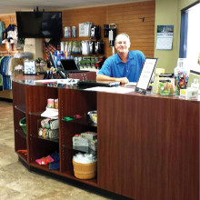 Pro Rick Howell in Sun Lakes Country Club's new Golf Shop.
