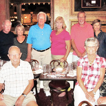 Pictured (left to right) back row: Bruce Garman, Susan Garman, Joe Tighe, Bernie Tighe, Len Vogelaar and Linda Vogelaar; front row: Jean Aplin, Dick Aplin, Cinda Sue Thorhauer and Paul Thorhauer.