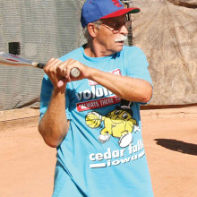 What heat? Jeff Jay is a regular summer ball participant (photo by Core Photography, LLC).