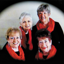 All That Jazz! Pictured (front) Chris Roen and Bev Borneman; (back) Kay Davis and Cindy Edwards