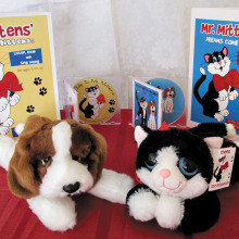 Each Mr. Mittens book comes with a soft toy and a music CD!