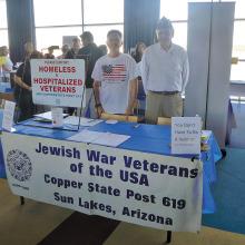 Jewish War Veterans exhibit at Jewish Expo