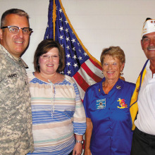 Lt. Hughes, wife Kristi and Betty and Neal Peer
