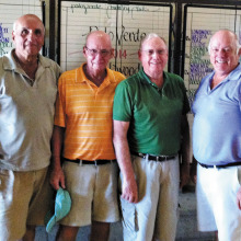 Oakwood/Palo Verde Home and Home winning team (pictured left to right) Neil Siegel (OW), Jack Wortley (PV), Bob Strong (OW) and Jack Hill (PV).