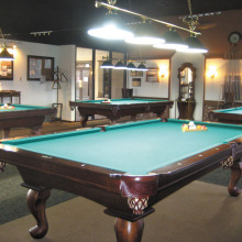 The Cottonwood Billiards Room offers competition on the only nine by four and one-half foot tournament quality tables in Sun Lakes.