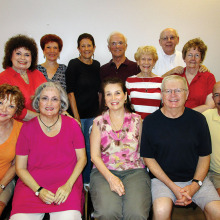 Howard Johnson's may never be the same as SLCT's cast and crew prepare to entertain you under their roof. Top row (pictured left to right): Linda Caton, Gloria Kelinson, MJ Clement, Dave Stevens, MaryAnn Stevens, John and Irene Blakely; bottom row: Joyce Recupido, Maureen Norris, Diana Nelinson, Harlie Youngblood and Bill Munn. Crewmembers not pictured are Kathy Jones, Roger Edmonds, Ted Peck, Marcia Stevic, Carole Hollar, Bob Hollar, Barbie Berguson, Lynn Munn, Sandy Bocynesky, Norm Harris, John Crawford, Veda Baack and Howard Hummel.