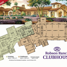Artist's rendering of the new 21,000 square foot Clubhouse at Robson Ranch.