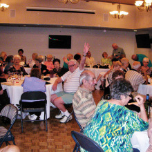 Members of the Sun Lakes Italian American Club enjoy a good Italian dinner.
