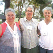 Some members of the Sun Lakes Garden Club are from left to right Mika Baltlyn, Fran Cook and Jan Peterson.