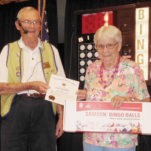 VFW Bingo Manager Elliott Bond and Jane Schaeffer