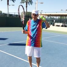 Kelz Kelzenberg's fancy rainbow shirt worn for the two-day Rainbow Tournament.
