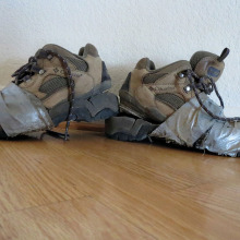 Check your hiking boots after being stored over the summer in Arizona heat!