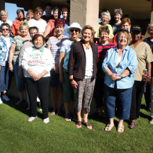The Lady Joker's Wild Hand and Foot card group, which meets on Thursday afternoon in the Bradford Room of the Oakwood Clubhouse, gathered recently for their third annual fall potluck at Sisk Park in Palo Verde.