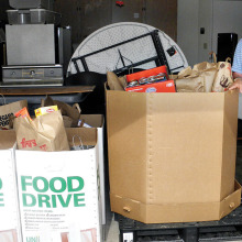 The Men's Club collected 819 pounds of food during its annual Food Drive!