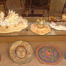 Some examples of what you can learn to do in the Cottonwood Clay Sculpture Class!