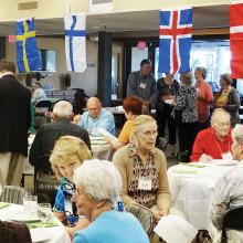 Members of the Scandinavian Club gather to celebrate Scandinavian heritage.