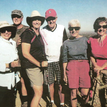 Retread hikers pictured left to right: Nancy Hicks, John Chatfield, Debbie Chatfield, Bill Luffma, Veronica Deuse and Fran Carissimo