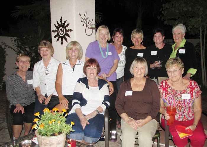 """Some of the women who are part of the """"angel"""" team."""