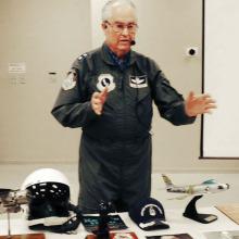 Maj. Gen. Carl Schneider (ret.) was guest speaker at the Sun Lakes Aero Club gathering November 17.
