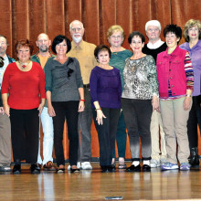 The cast of Southern Hospitality, SLCT's spring show, are Sharon Guzman, Ted Peck, Ginger Henry, Michael Carter, MaryEllen Buchwold, John Crawford, Sandy Ilsen, Merrie Crawford, Phyllis Novy, Michael O'Rourke, Janine Schneck, Roxy Banta and Harlie Youngblood.