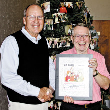 Director Roman Martin was honored by the Sun Lakes Duplicate Bridge Club for his 80th birthday and for his contributions to the Bridge Club!