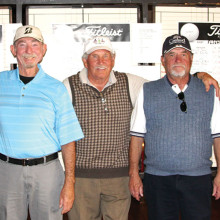 These are the winners of the Member/Member Tournament (left to right) Don Klein, Bill Moore, Ken Pearson, Dale Collings, Stan Gross and Arny Pinsly (not shown).