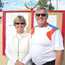 Bob and Rae Lewis are shown keeping track of match scores on the scoreboard at the start of the CTC gender doubles tournament in mid-January. The membership of the tennis club is very grateful to them for being our tournament directors this year. Kudos to you both from the CTC!
