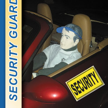 """Softball security guard """"Manny"""" Lakes can be seen in his super-charged security Porsche patrolling the Field of Dreams."""