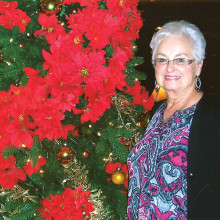Donna Bailey, Sun Lakes Tennis Club Christmas party chairperson