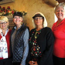 The 2015 Executive Board pictured left to right are Secretary Susan Lamb, Treasurer Liz DeMichael, Vice President Cindy Bosch and President Carol Ruff.