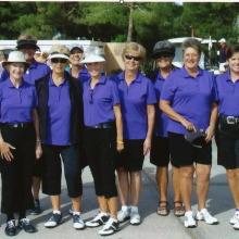 From left are Karen Beltz, RuthAnn McGilvra, Betty Dupuis, Barb Dinardo, Carol Jones, Leann Knox, Elaine Osborn, Karen Welker, Bev Lutes, Linda Meisinger (captain), Anne Annis and B.J. Schuller