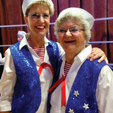 Chordaires mother/daughter team Jean Ahnmark and Nancy Roberts