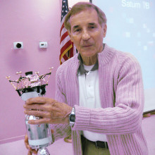 Sun Lakes resident Don Palmer was guest speaker at the Sun Lakes Aero Club meeting January 19. (Photo by Gary Vacin)