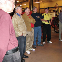 The Men's Club toured the Hall of Flame Fire Museum and National Firefighting Hall of Heroes on January 21.