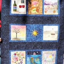 """Art Group's """"Happy Places"""" art quilt"""