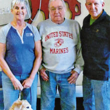 An American Service Animal Society trainer (and dog), Al Cary and Gerad Claseman