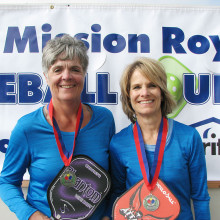 Mission Royale Women's Doubles Silver medal winners Patty True and Dianne Zimmerman